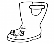 Rain Boots Jennifer Rayne shopkins season 3 coloring pages