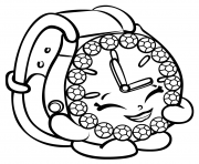 Ticky Tock Watch shopkins season 3 coloring pages