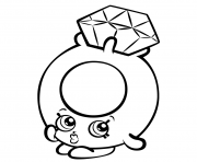 Printable Roxy Ring with Diamond shopkins season 3 coloring pages