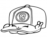 Printable Baseball Casper Cap shopkins season 3 coloring pages