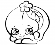 Fruit Peachy shopkins season 3 coloring pages