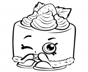 Printable Cheesecake shopkins season 3 coloring pages