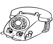 Printable Rotary Telephone shopkins season 3 coloring pages
