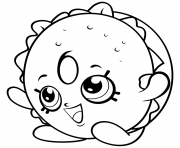 Printable bagel sandwiches shopkins season 4 coloring pages