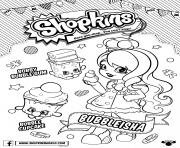 Printable bubbleisha shopkins shoppies with bubble gum coloring pages