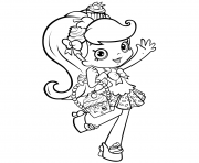 shopkins girl shoppie say hi coloring pages