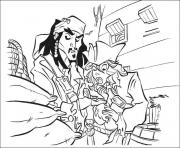 Printable jack and his friend pirates of the caribbean coloring pages
