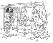 Printable jack and his friends pirates of the caribbean coloring pages