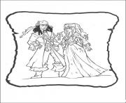 Print jack and princess pirates of the caribbean coloring pages