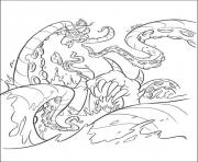 Print the octopus pirates of the caribbean coloring pages