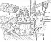 Print he catches a crab pirates of the caribbean coloring pages