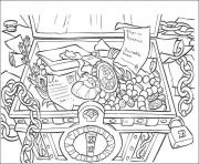 Printable the treasure pirates of the caribbean coloring pages
