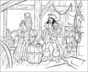 Print jack in his room pirates of the caribbean coloring pages