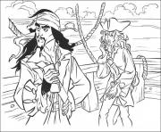 Print jack is holding a card pirates of the caribbean coloring pages