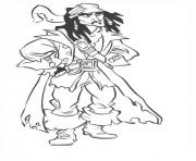 Print jack sparrow pirates of the caribbean coloring pages
