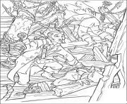 Print pirates on boat pirates of the caribbean coloring pages