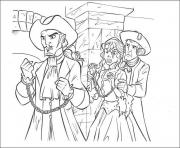 Printable princess has captured pirates of the caribbean coloring pages
