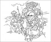 Print the pirates captured pirates of the caribbean coloring pages