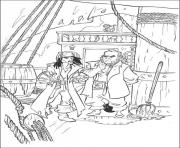 Print jack with his enemy pirates of the caribbean coloring pages
