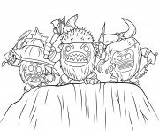Printable kakamora from moana disney  coloring pages