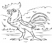 Printable heihei rooster from moana disney  coloring pages