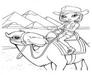 Printable cow girl a4 coloring pages
