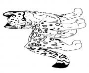 Print leopard hunter a4 coloring pages