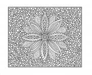 free printable flower difficult adult color coloring pages
