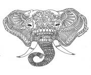 Printable best adult printable elephant difficult hard zen coloring pages