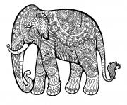Printable elephant complex for adults print out hard coloring pages