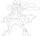 Printable mega pokemon lucario coloring pages