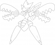 Printable mega scizor pokemon coloring pages