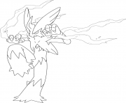 Printable mega blaziken pokemon coloring pages