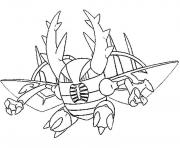 Printable mega evolved pokemon mega pinsir coloring pages
