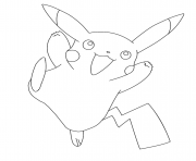 Printable pikachu pokemon coloring pages