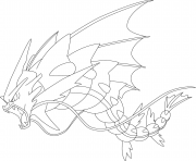 Printable Mega Gyarados Pokemon Coloring Pages