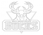 Print milwaukee bucks logo nba sport coloring pages