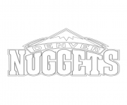 Print denver nuggets logo nba sport coloring pages