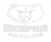 memphis grizzlies logo nba sport coloring pages