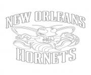 new orleans hornets logo nba sport coloring pages