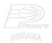 indiana pacers logo nba sport coloring pages