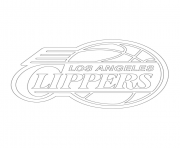 los angeles clippers logo nba sport coloring pages