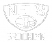 brooklyn nets logo nba sport coloring pages