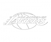 los angeles lakers logo nba sport coloring pages