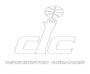washington wizards logo nba sport coloring pages