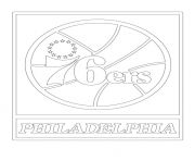 philadelphia 76ers logo nba sport coloring pages