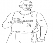 chris paul nba sport coloring pages