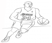 Kobe Bryant Coloring Pages Kobe Bryant Nba Sport Coloring Pages Printable