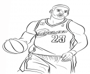 Cleveland Cavaliers Logo Nba Sport Coloring Pages Printable