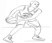 Stephen Curry Nba Sport Coloring Pages